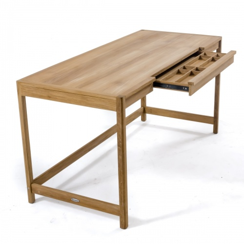 wooden desks with drawers