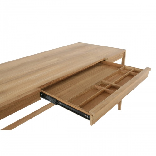 teak desks with trays