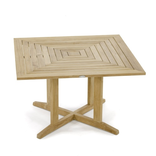 Pyramid 48in Square Teak Outdoor Dining Table - Picture A