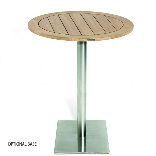 Vogue 30 inch Round Teak Table Top - Picture B