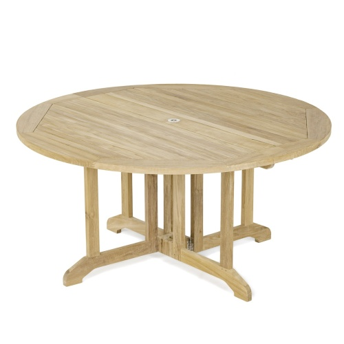 teak folding table - Picture A