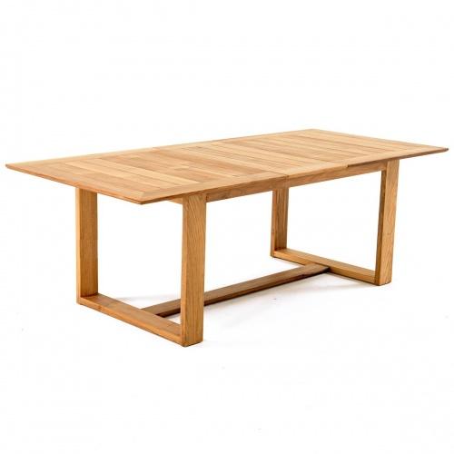 indoor teak extension tables