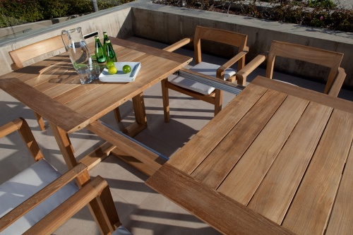 extendable teak tables