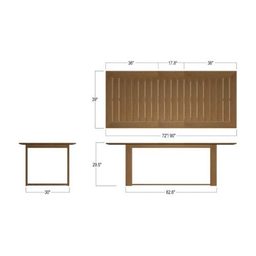 6ft teak dining tables