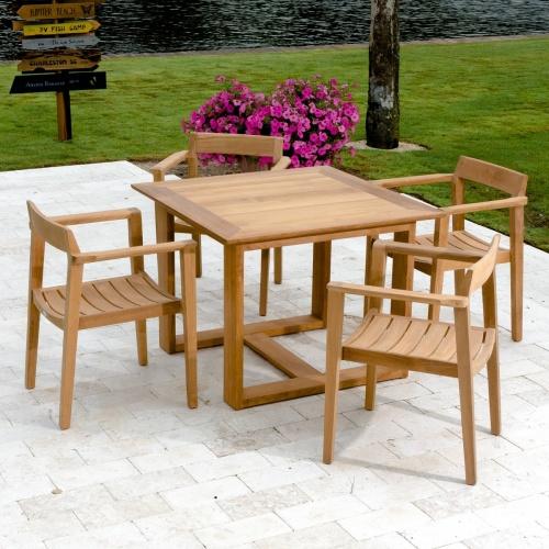 36 inch square teak table