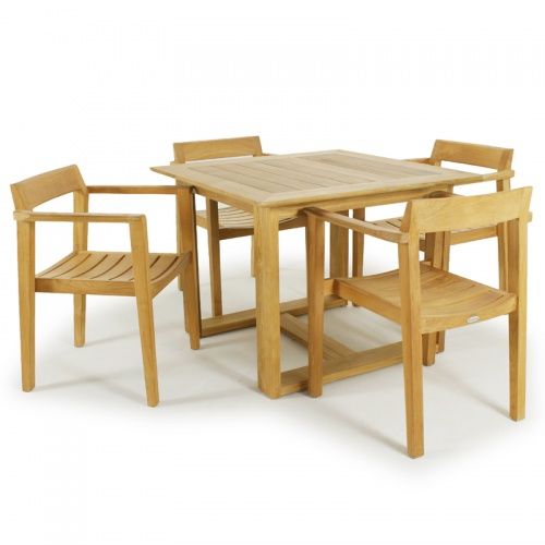 Horizon 36in Square Danish Style Teak Dining Table - Picture B