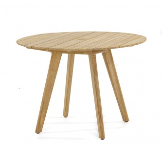 "42"" Surf Round Teak Table - Umbrella Ready"