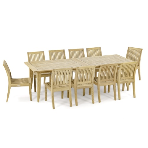 Laguna 11 ft Large Teak Extendable Table - Picture G