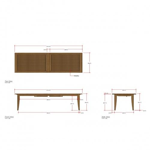 Laguna Large Teak Extendable Table - Picture J