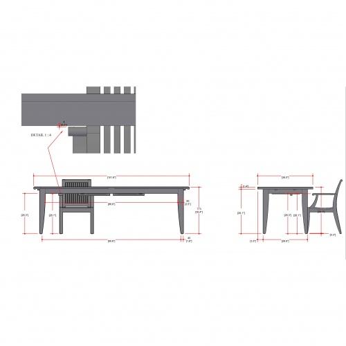 Laguna Large Teak Extendable Table - Picture K