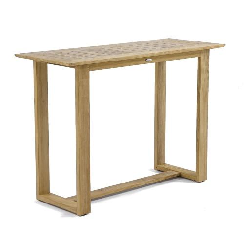 5 ft Horizon Rectangular Teak Bar Table - Picture A