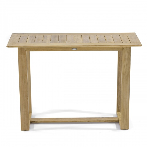 Teak Console Buffet Library Table Discontinued - Picture D