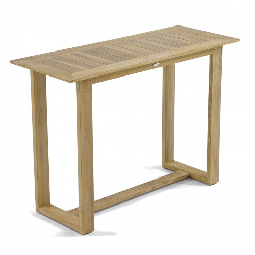 Teak Console Buffet Library Table Discontinued - Picture E