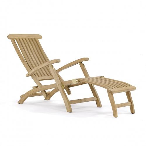 teak steamer chaises