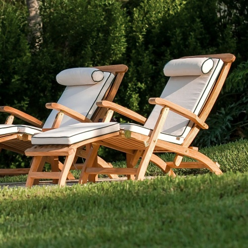 outdoor classics teak steamer chairs