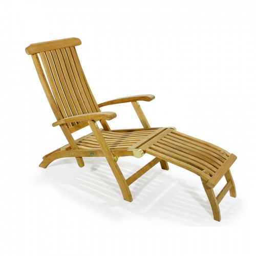 Barbuda Classic Teak Steamer Chair Rated Best Over - Picture A