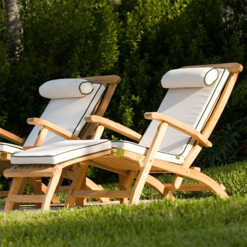 Barbuda Classic Teak Steamer Chair Rated Best Over - Picture B