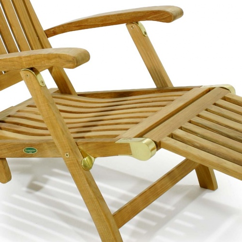Barbuda Classic Teak Steamer Chair Rated Best Over - Picture D