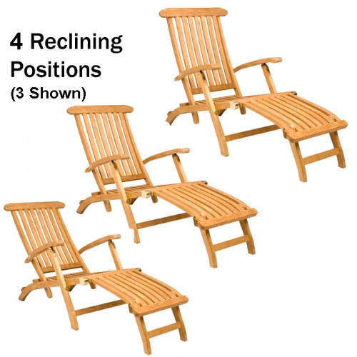 Barbuda Classic Teak Steamer Chair Rated Best Over - Picture G