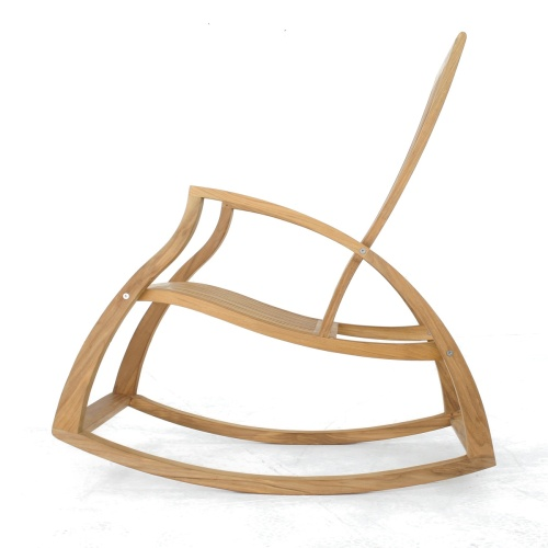 Contemporary Modern Teak Rocking Chair - Picture C