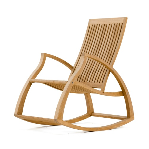 Contemporary Modern Teak Rocking Chair - Picture D