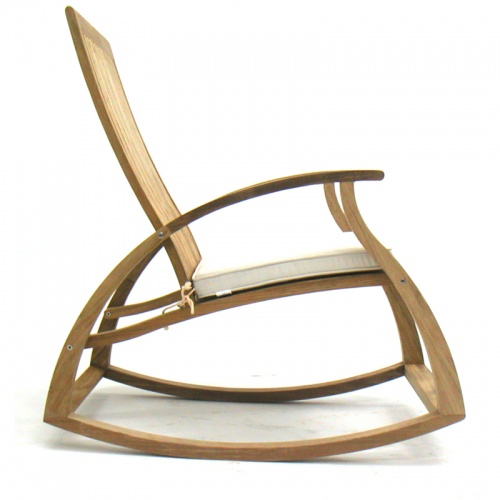 Contemporary Modern Teak Rocking Chair - Picture E