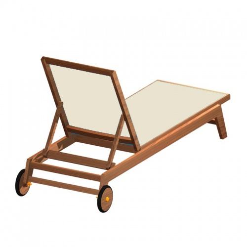 Teak Sunbrella Chaise Lounger - Picture B