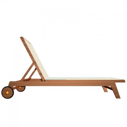 Teak Sunbrella Chaise Lounger - Picture C