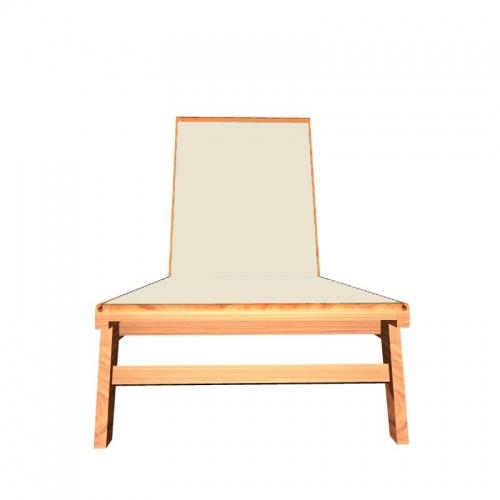 Teak Sunbrella Chaise Lounger - Picture D