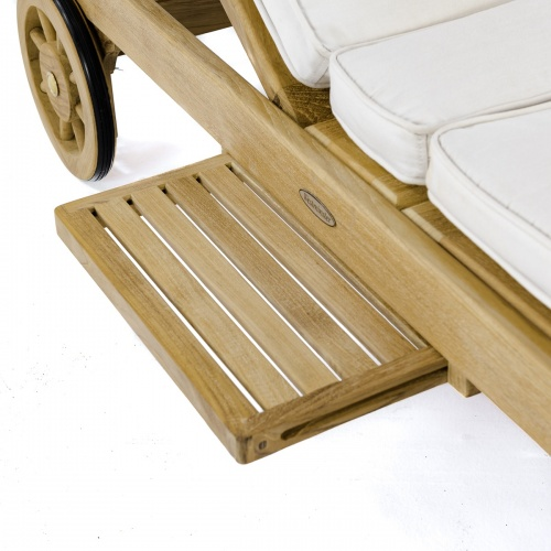 adjustable teak chaise loungers