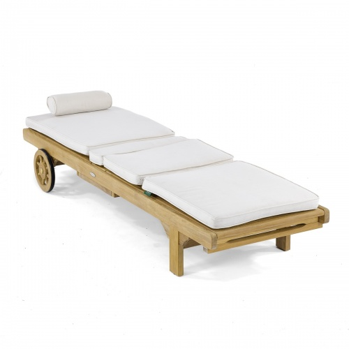 Teak Outdoor Chaise Lounger Refurbished - Picture B