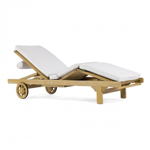 Teak Outdoor Chaise Lounger Refurbished - Picture D