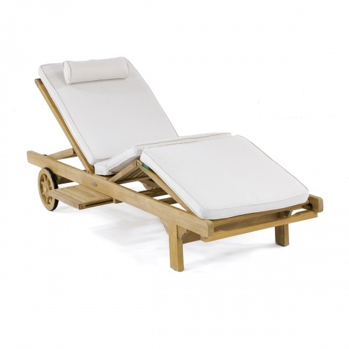 Teak Outdoor Chaise Lounger Refurbished - Picture F