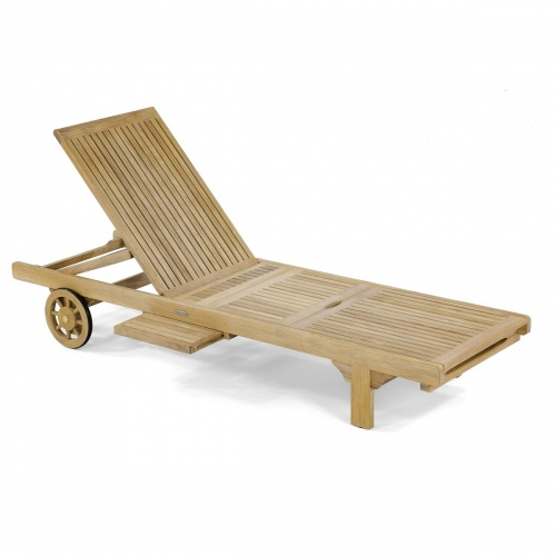 Teak Outdoor Chaise Lounger Refurbished - Picture G
