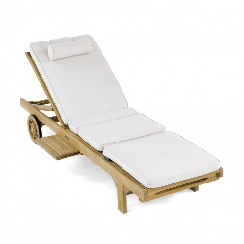 Teak Outdoor Chaise Lounger Refurbished - Picture H