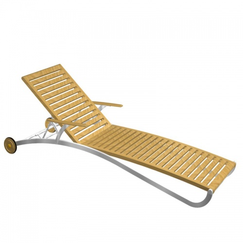 Elle Lounger with aluminum - Picture A