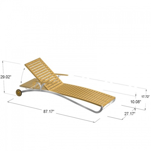 Elle Lounger with aluminum - Picture F