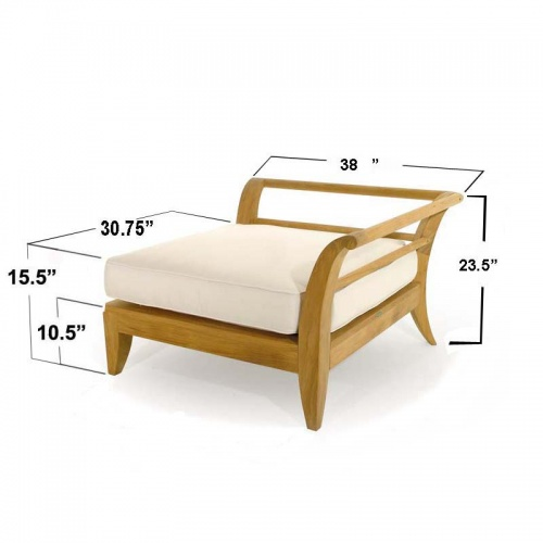 Teak modular daybed - Picture F