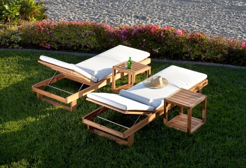 Teak Chaise Lounger - Picture B