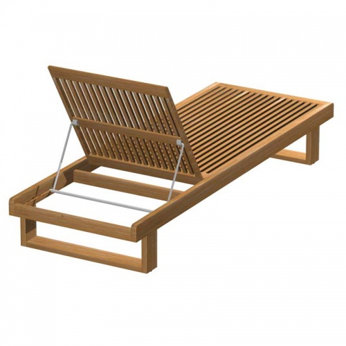Teak Chaise Lounger - Picture E