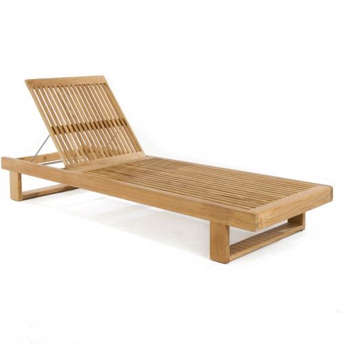 Horizon Teak Chaise Lounger for Pool and Patio - Picture E