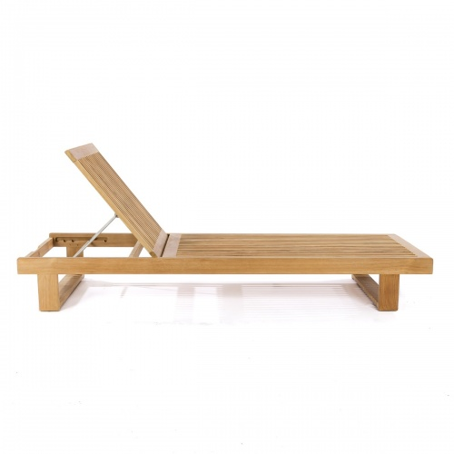 Horizon Teak Chaise Lounger for Pool and Patio - Picture F