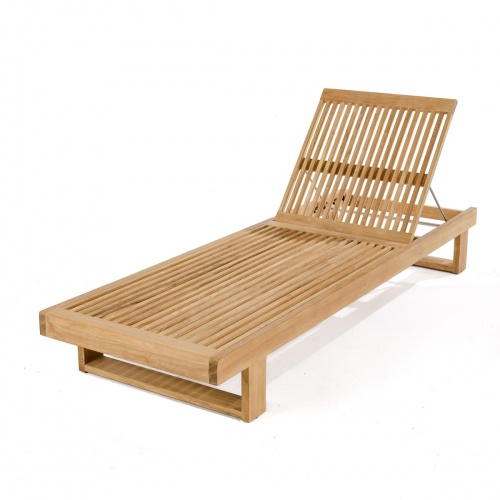 Horizon Teak Chaise Lounger for Pool and Patio - Picture G