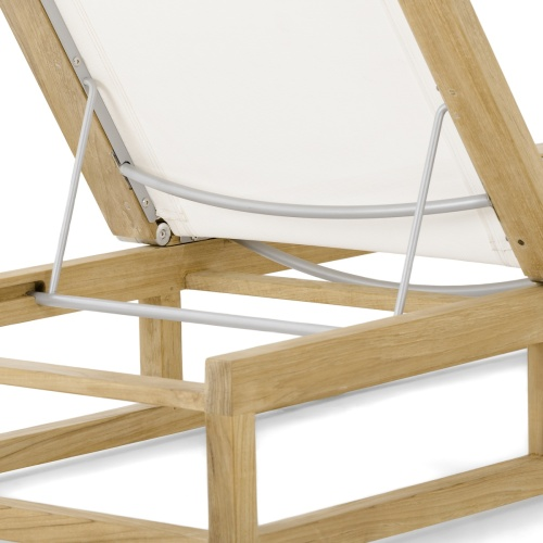 Maya Teak Sling Chaise Lounger - Picture D