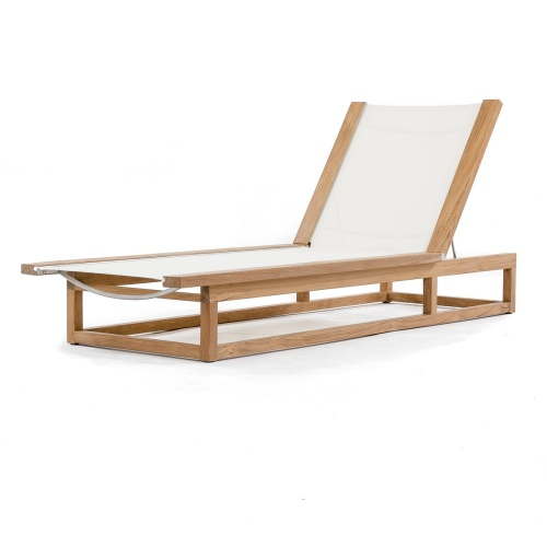 wooden teak pool loungers