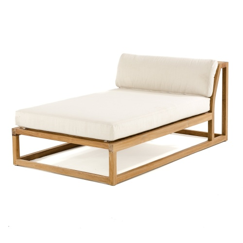 Maya Teak Outdoor Premium Daybed with Sunbrella - Picture A