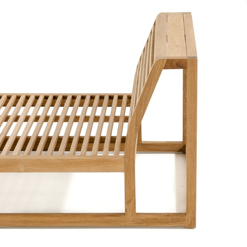 Maya Teak Outdoor Premium Daybed with Sunbrella - Picture F