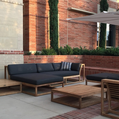 Maya Teak Outdoor Premium Daybed with Sunbrella - Picture J