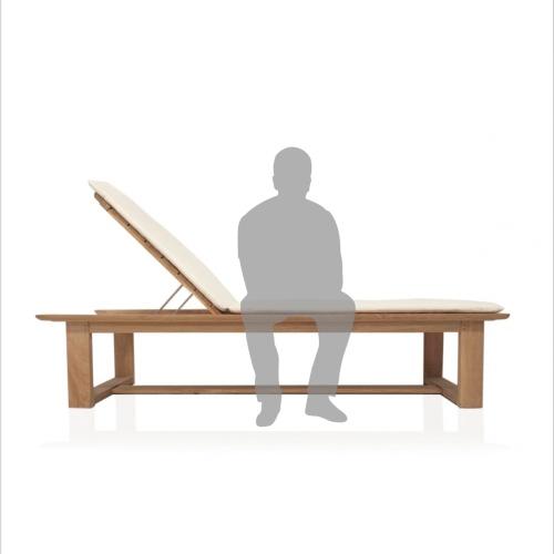 Horizon Teak High Chaise Lounge - Picture B