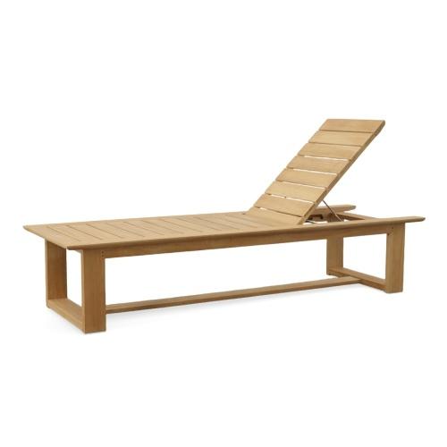 Horizon Teak High Chaise Lounge - Picture D